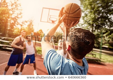 Rear view of basketball team Stock photo © IS2