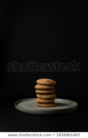 Oatmeal cookies closeup, morning breakfast, still life.   Stock photo © Valeriy