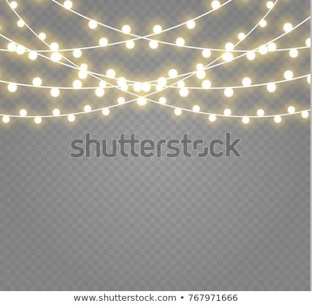 vector · string · lichten · licht · donkere · vrolijk - stockfoto © odina222