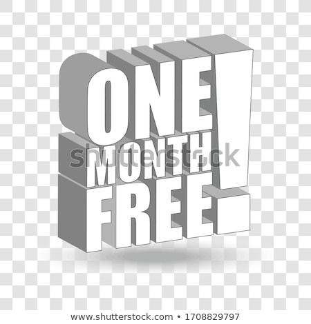 1 Month Offer Vector Icon Button Design Stock photo © rizwanali3d