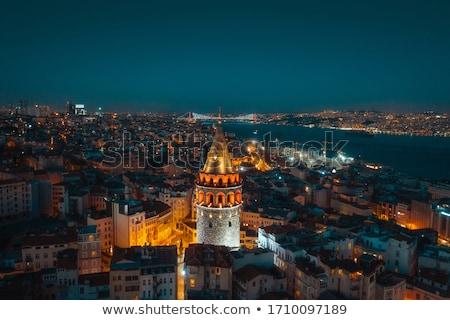 Galata Tower at Night Stock photo © Givaga
