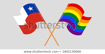 Chile LGBT flag. Chilean Symbol of tolerant. Gay sign rainbow Stock photo © popaukropa