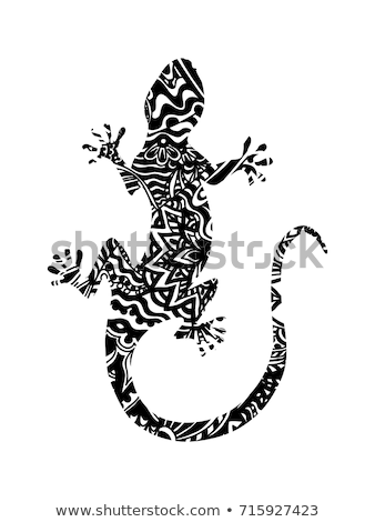 Stylized lizard Stock photo © blackmoon979