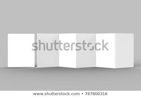Libretto cinque carta bianco brochure Foto d'archivio © romvo