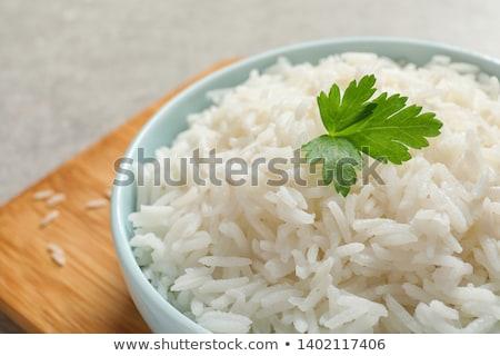 branco · arroz · colher · madeira · chá · grão - foto stock © digifoodstock