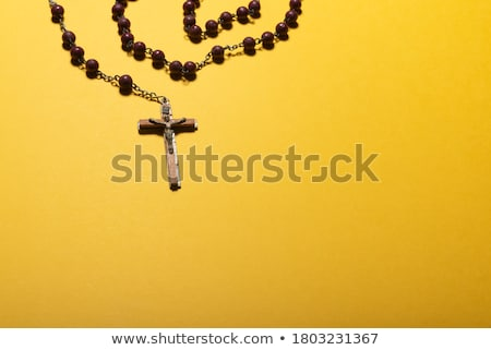 Sacred bible and Holy card with Jesus Christ image on a desk Stock photo © stokkete