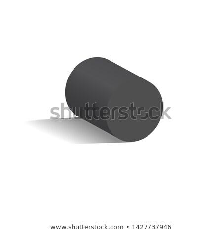 Siyah silindir geometrik anlamaya gölge biçim Stok fotoğraf © robuart