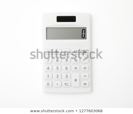 White calculator isolated on white Stock photo © kravcs