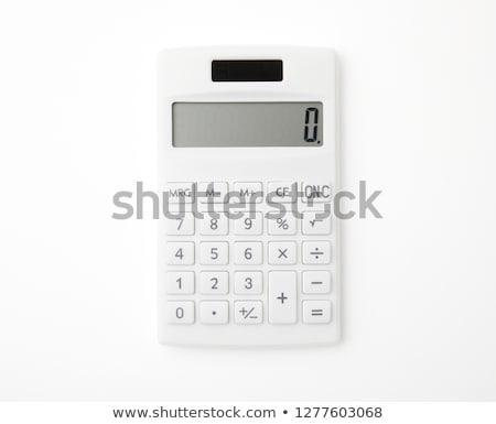 белый · калькулятор · изолированный · фон · Финансы - Сток-фото © kravcs