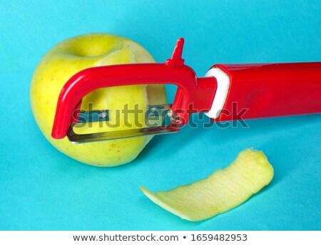 Kéz alma falatozó illusztráció férfi bőr Stock fotó © lenm