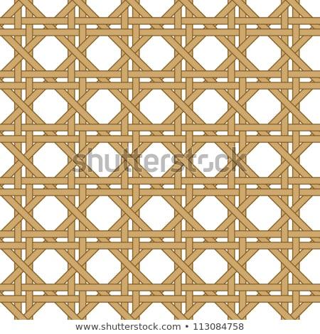 Seamless woven illustration background of straw mat Stock photo © orensila