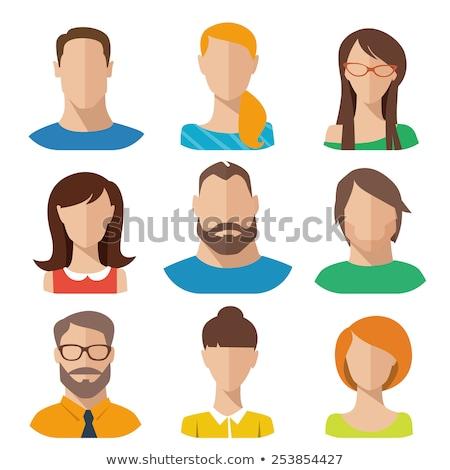 Ikonok felhasználók iroda üzletemberek szett üzlet Stock fotó © NikoDzhi