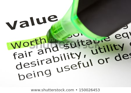 'Worth' highlighted, under 'Value' Stock photo © ivelin