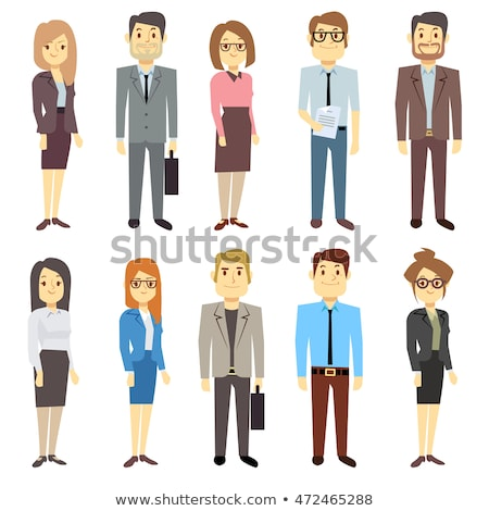 Office Businesswoman Outfit Character Illustration Design Graphic stock photo © smith1979