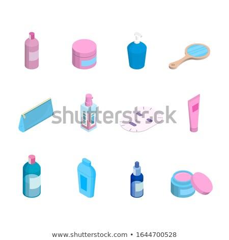 Cosmetic cream in jar isometry. Vector illustration Stock photo © MaryValery