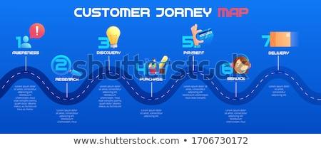 Customer journey map isometric flat vector concept. Stock photo © TarikVision