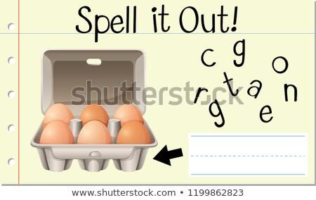 заклинание английский слово яйцо иллюстрация Сток-фото © bluering