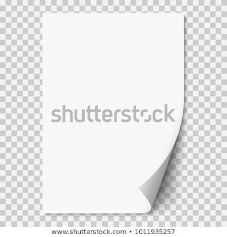 Vector white realistic paper page with curled corner. Paper sheet folded with soft shadows on light  Stock photo © olehsvetiukha