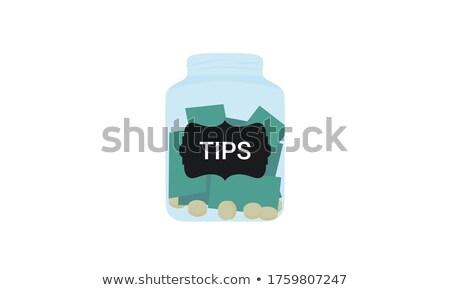 изолированный банку монетами бизнеса стекла Сток-фото © Zerbor