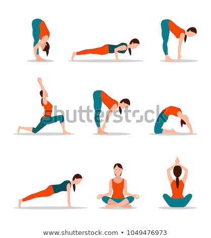 Crescenet Lunge Pose of Yoga Vector Illustration Stock photo © robuart