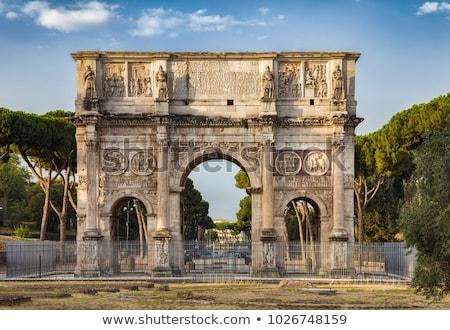 ív Róma Colosseum tér fa felhők Stock fotó © Givaga