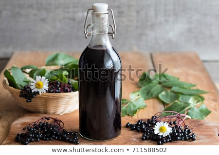 şişe siyah şurup taze karpuzu Stok fotoğraf © madeleine_steinbach