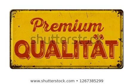 Vintage Rusty metal signo traducción prima Foto stock © Zerbor