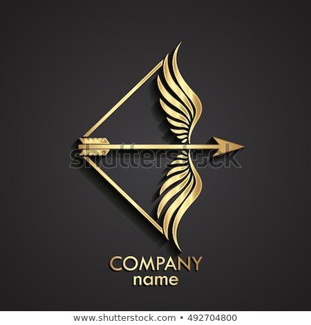íj nyíl vektor felirat logo alkotóelem Stock fotó © blaskorizov