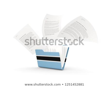 Folder with flag of botswana Stock photo © MikhailMishchenko