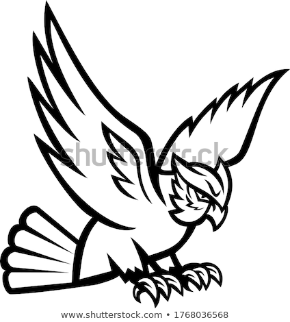 horned owl swooping mascot stock photo © patrimonio