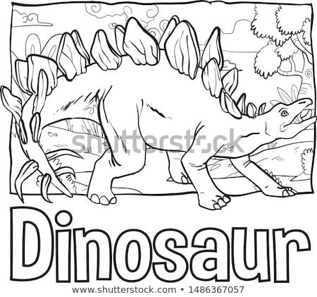 Animal outline for dinosaur with sharp horns Stock photo © colematt