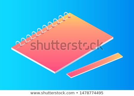 plástico · diário · dígitos · conjunto · escolas · projeto - foto stock © robuart