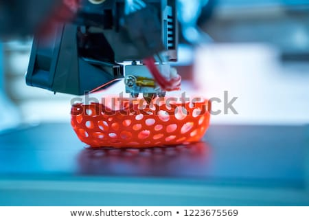 Impression machine 3D imprimante fabrication Photo stock © cookelma