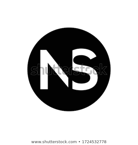 black blue n letter logotype symbol vector Stock photo © blaskorizov
