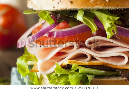 deli sandwich with vegetables stock photo © mythja