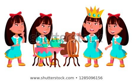 Asia nina kindergarten nino establecer vector Foto stock © pikepicture