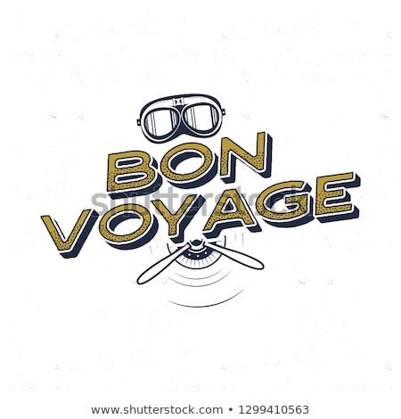 Vintage самолет плакат цитировать ретро Сток-фото © JeksonGraphics