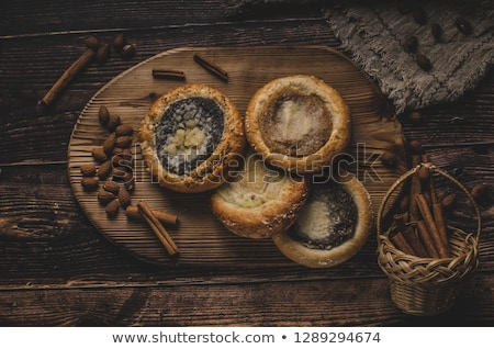Old Bohemian cakes with poppy seeds and cinnamon Stock photo © Peteer