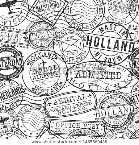 holland · ingesteld · patroon · eps · 10 · huis - stockfoto © netkov1