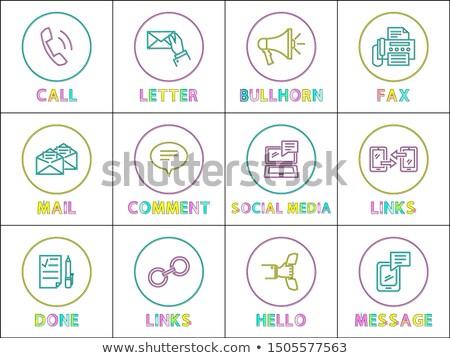 Luminoso lineare icone speciale simboli set Foto d'archivio © robuart