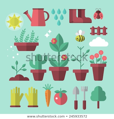 Garden flat concept icons Stock photo © netkov1