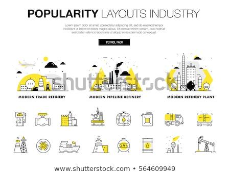 olajipar · szalag · infografika · ikonok · gyártás · közlekedés - stock fotó © netkov1