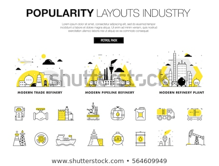 olie-industrie · banner · infographics · iconen · productie · vervoer - stockfoto © netkov1