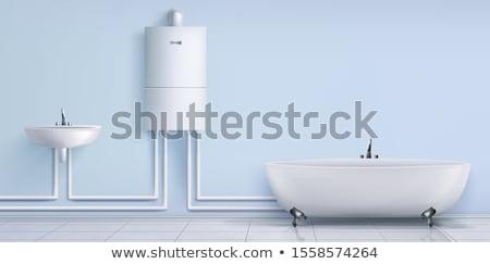 Realistic modern electric water heater Stock photo © netkov1