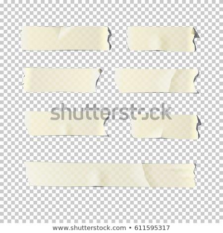Vector ingesteld plakband ontwerp tekening cartoon Stockfoto © olllikeballoon