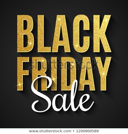 black · friday · sprzedaży · banner · złoty · blask · działalności - zdjęcia stock © olehsvetiukha