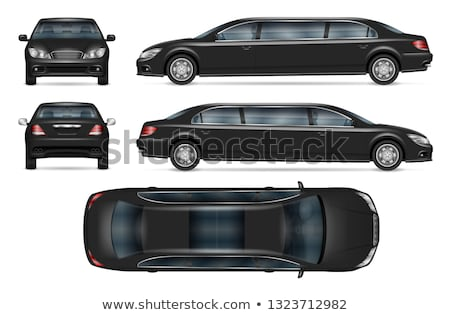 Realistic limousine vector mock-up Stock photo © YuriSchmidt