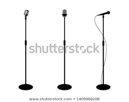 ретро хром микрофона стоять вектора музыкальный Сток-фото © pikepicture