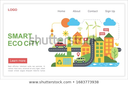 Stock photo: Eco battery concept banner header.