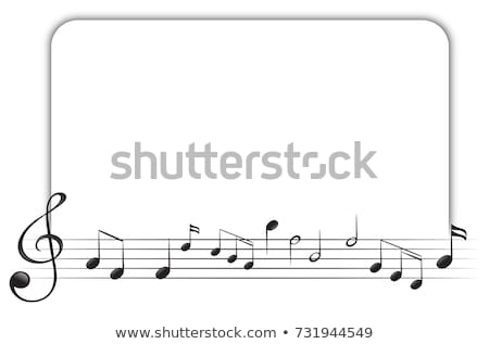 Border template with musical instrument Stock photo © colematt
